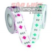 Bobina para Dispensador de Senhas Manual Bico de Pato 3 Dígitos de 000 à 999 c/ 05 Unidades