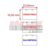 Etiqueta para Etiquetadora Manual MX-2316 Personalizada 200 rolos