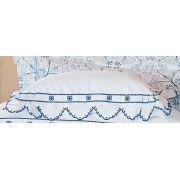 Almofada de Cama Azul em Fio Egipicio Percal 400 fios - Lazuli