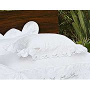 Almofada de Cama Branco em Fio Egipicio Percal 400 fios - Cashemere