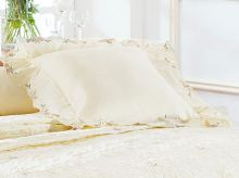 Almofada de Cama Palha em Fio Egipicio Percal 400 fios - Eglantine