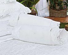 Almofada Rolinho em Fio Egipicio Percal 400 fios cor Branco - Cashemere