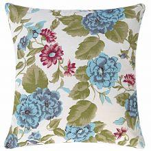 Capa de Almofada 45cm Flóris Azul Floral com 1 peças