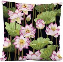 Capa de Almofada Silk Impressão Digital estampa Lotus