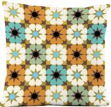 Capa de Almofada Silk Impressão Digital estampa Mosaico