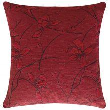 Capa de Almofada  Velute Vermelho com 1 peça
