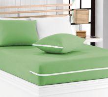 Capa de Colchão Mascali Casal Verde Nille com 1 peças em Algodão