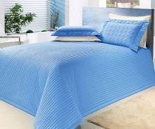 Cobre Leito Queen Tropical Azul Royal com 3 peças em Algodão e Poliéster