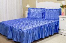 Colcha Casal Mirela 3 peças  - Azul
