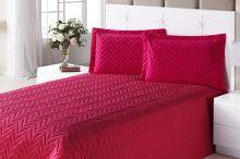 Colcha Clean Queen Pink com 4 peças Algodão e Poliester