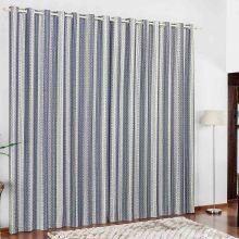 Cortina 3 metros Califórnia Azul Listras  com 1 peças
