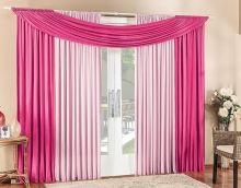 Cortina Alana 3 Metros Rosa e Pink Contraste Cores com 1 peça