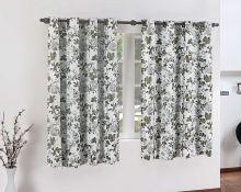 Cortina Cortenova 2 metros Floral com 1 peças em PVC