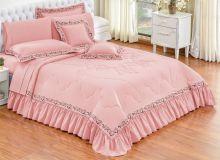 Edredom Queen Fiore 7 peças - Rosê