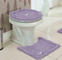 Jogo de Banheiro  Delicato Lilas com 3 peças