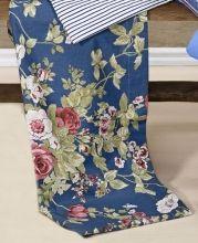 Jogo de Lençol Cerato Casal cor Floral Azul com 4 peças