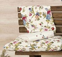 Jogo de Lençol Cerato Queen cor Floral Palha com 4 peças