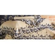 Jogo de Lençol Queen Areia Lomani 4 peças Algodão e Poliéster