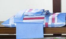 Jogo de Lençol Super King Azul Royal Monte Carlo 4 peças Algodão