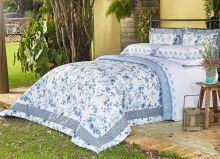 Kit Casal Di Cotone King Azul  com 3 peças