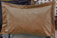 Porta Travesseiro Murano 70cm x 50cm Caqui Em Suede com 1 peça
