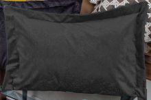 Porta Travesseiro Murano 70cm x 50cm Preto Em Suede com 1 peça