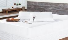 Protetor de Colchão Impermeável Solteiro Branco Liso com 2 peças