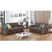 Protetor de Sofá 2 e 3 Lugares Protetor de sofá em Jacquard  Estampado com 1 peças