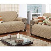 Protetor de Sofá 2 e 3 Lugares Protetor de sofá  Liso com 1 peças