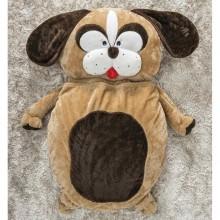 Puff Gigante para Dormir Pelúcia Cachorro Médio com 1 peças