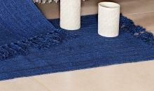 Tapete Mersi Decoração cor Azul Marinho com 2 peças