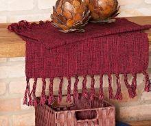 Tapete Mersi Decoração cor Vinho com 2 peças