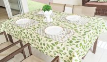 Toalha Quadrada para 04 Cadeiras Impermeável 1 peças - Verde