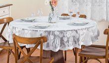 Toalha Redonda para 04 Cadeiras Tulipa 1 peças - Branco