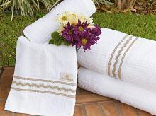 Toalhas de Banho Gigante Amaretto cor branco com 5 peças