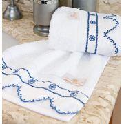 Toalhas Lavabo único Lazuli cor Azul com 2 peças