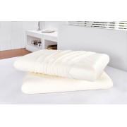 Travesseiro 60cm x 40cm x 15cm altura Branco em Viscoel�stico com 1 pe�as - Travesseiro Nasa