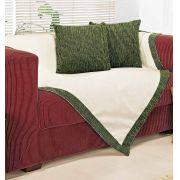 Xale para sofá  Chenille Verde  com 5 peças