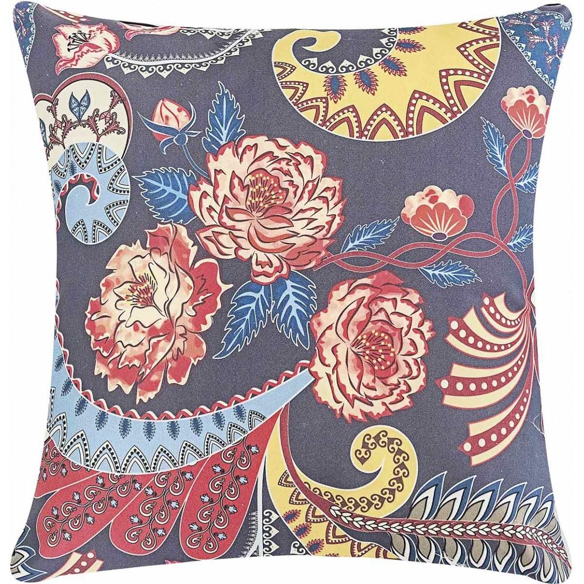 Almofada 48cm Fantasy Arabesco Floral com 2 peças