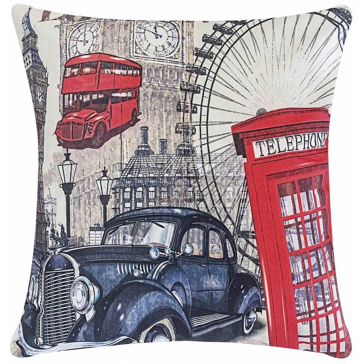 Almofada 48cm Fantasy Londres com 2 peças