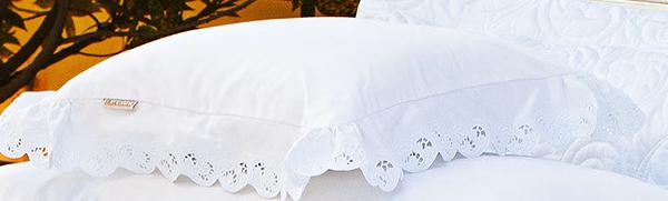 Almofada de Cama Branco em Fio Egipicio Percal 400 fios - Molise