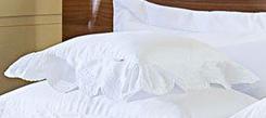 Almofada de Cama Branco em Percal Algodão 230 fios - Acetinado - Giornata