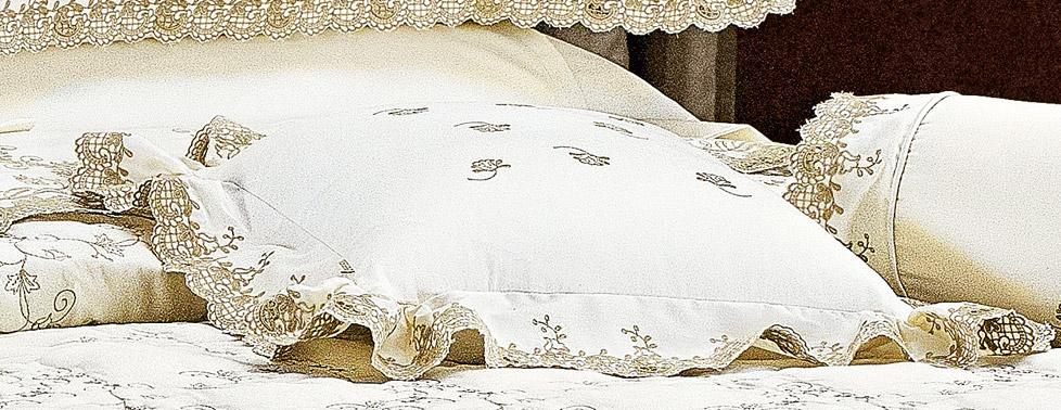 Almofada de Cama Palha Caqui em Fio Egipicio Percal 400 fios - Capri