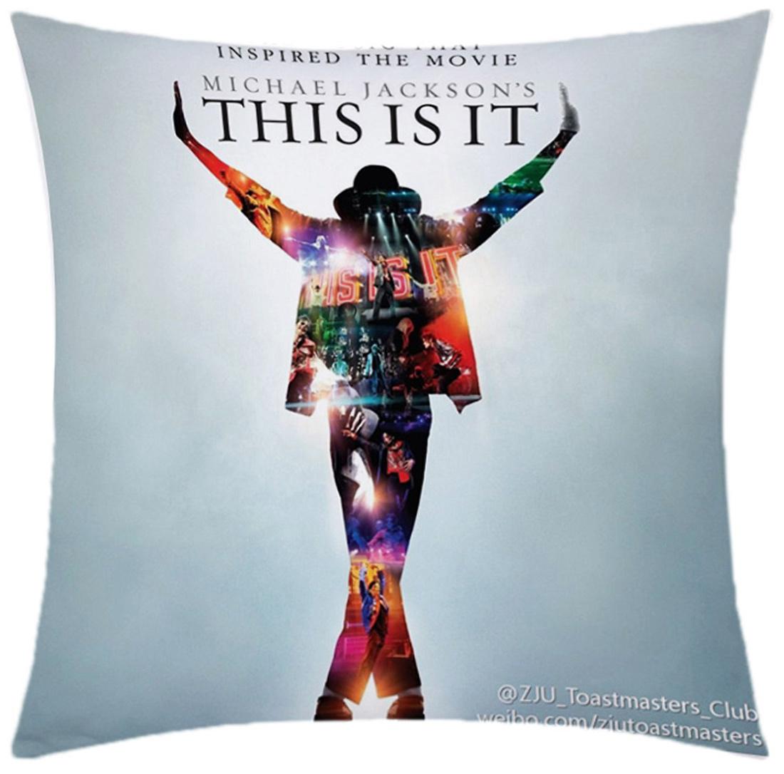 Almofada Desenhada Decoração Michael Jackson com 2 peças tecido Microfibra - Almofada Digital
