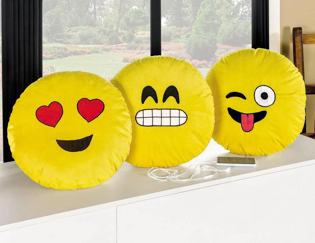 Almofada Divertida Emotions 42cm de diametro  com 1 peças