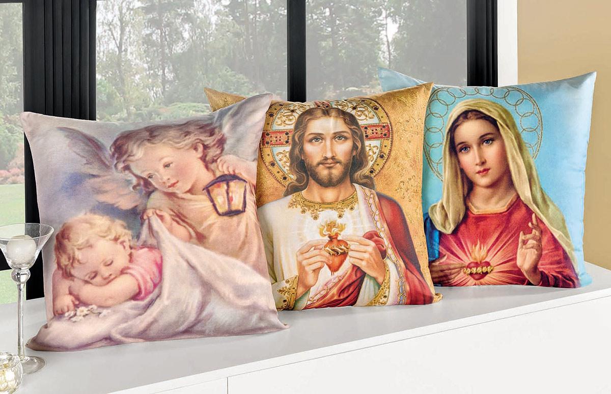 Almofada Religiosa Religiosa 50cm x 50cm  com 1 peças