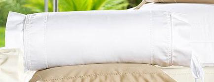 Almofada Rolinho em Fio Egipicio Percal 400 fios cor Branco - Gales