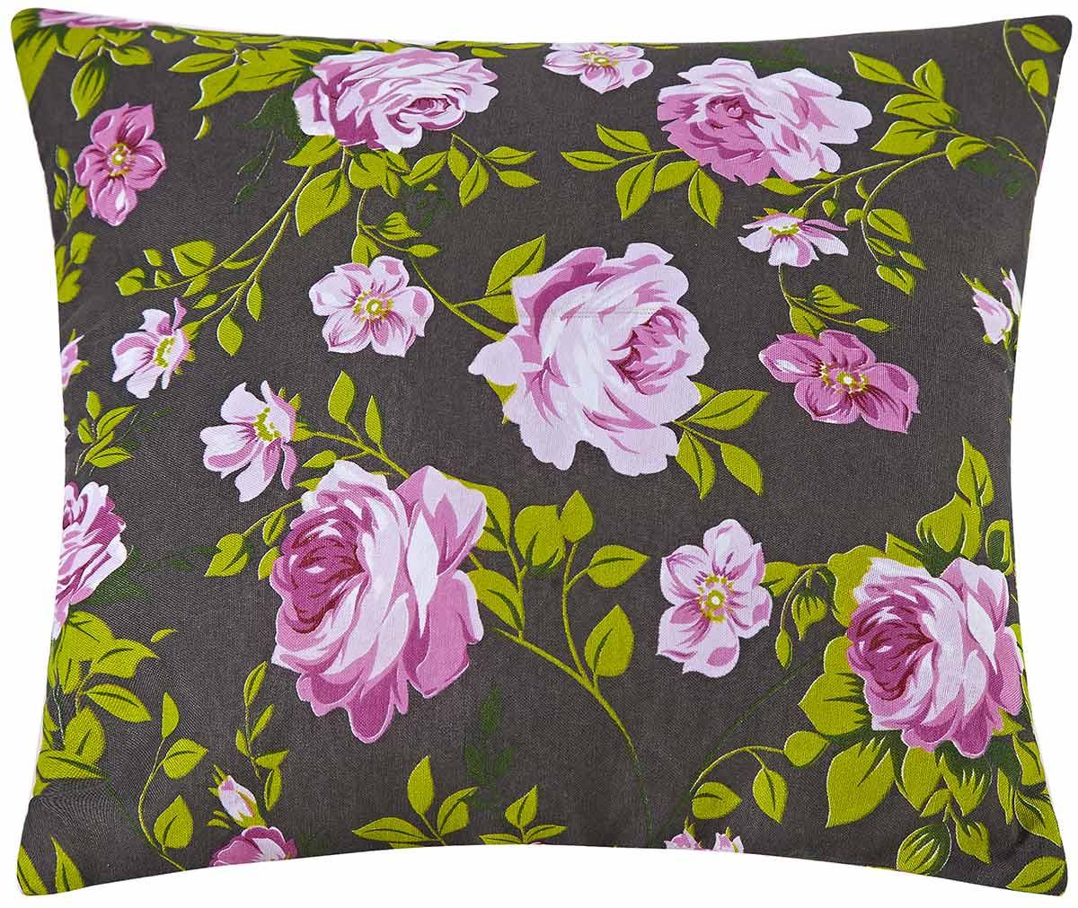 Almofadas Avulsa 40cm x 40cm  Rosas Estampado com 1 peças