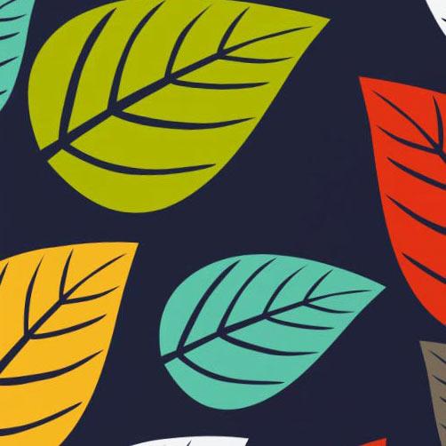 Capa de Almofada 45cm Capa de Almofada Silk Folhas com 1 peças em Poliéster