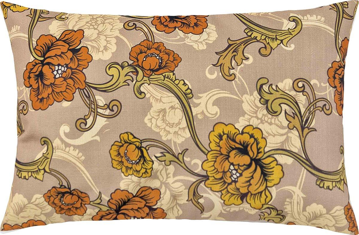 Capa de Almofada  Fascínio Laranja Floral com 1 peças